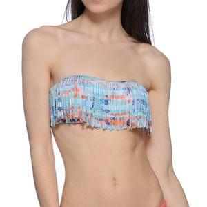 L*Space MultiColor Fringe Strapless Bandeau Bikini